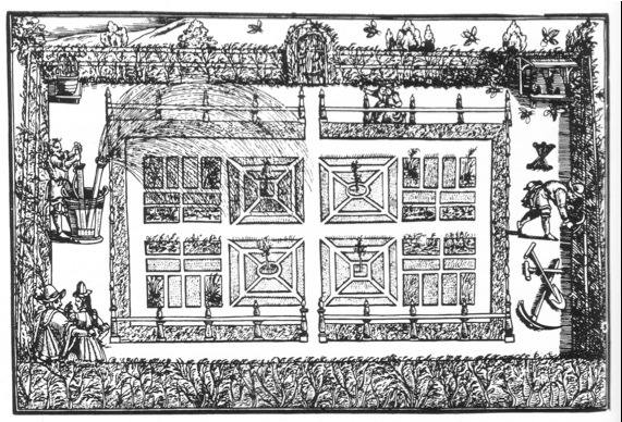 Cornwall gardens trust journal the tudor garden at for Tudor knot garden designs