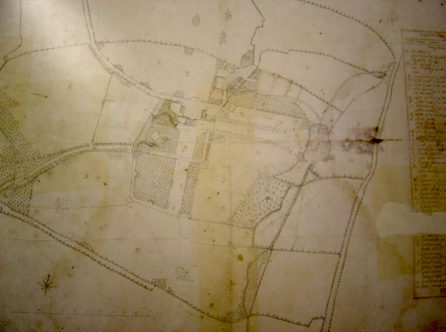 1738 plan of Trewithen